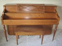 Estey Piano Upright. Solid hardwood. With original