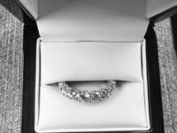 3.26 carat platinum eternity band for sale it's a