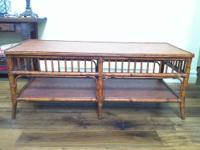 Ethan Allen bamboo inspired coffee table. Excellent