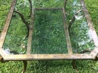 Collector's Classic Ethan Allen 2 Tier Gold Leaf Glass