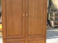 solid wood armoire made by Ethan Allen Country Colors