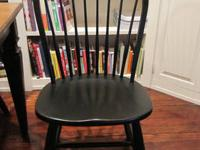 Ethan Allen Avery dining table and four Ethan Allen