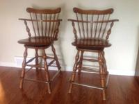 2 Vintage Ethan Alken Swivel Bar Stools Item number