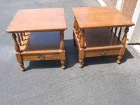 I have two very nice antique Ethan Allen by Baumritter