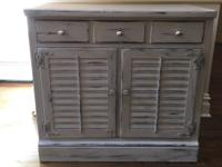 Ethan Allen cabinet, great for liquor! Color: Light