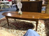 Ethan Allen Coffee Table Made of Maple and Birch.