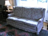 Very comfortable Ethan Allen denim sofa. We are moving