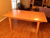 "Ethan Allen dining table (no chairs): 72"" plus 2 -18"""