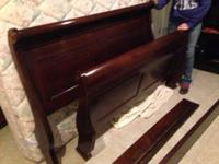 Ethan Allen Morgan Platform Bed with attached side