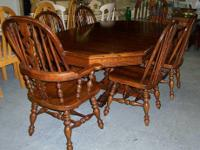 Available is a beautiful charter oak Ethan Allen Dining