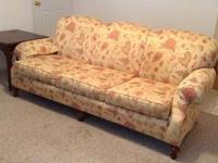 Beautiful Ethan Allen sofa...cherry wood legs $350 for