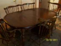 Ethan Allen solid pine dining table, REDUCED FOR Quick