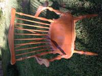 Brace Back Chair with Arms One Owner Solid Original