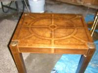 End table - $15 Ethan Allen - table, 1 leafe and 2