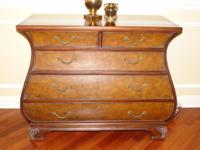 This is an Ethan Allen Bombe' chest, in like-new