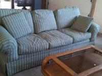 Light green colored Ethan Allen couch in exceptional
