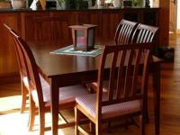 9 Piece Ethan Allen Dining Set Solid Cherry Table 6