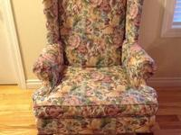 Ethan Allen Stamford Queen Anne Wing Chair (I have