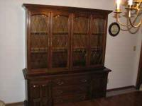Formal dining room china cabinet by EthanAllen. Has