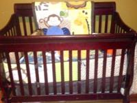 I have an EUC Cherry baby crib and changing table set.