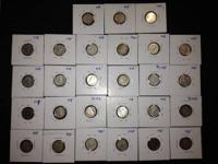 I have many 80 % silver coins from Canada. 27- 10 cent