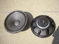 pair of ev 15 inch bass speakers 100.00 pair  Location: