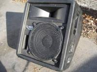 "EV & JBL 15""x1"" QMS wedge monitor speaker cabinet; 1/4"""