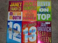 6 Janet Evanovich hardbacks, $4 each or all 6 for $20.