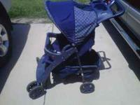 Used folding baby stroller $20. In good shape, some