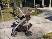 Evenflo Arua Georgia Stripe stroller Some wear, works