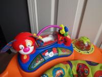 The Evenflo Exersaucer SmartSteps has more fun and