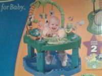 For sale is an Evenflo ExerSaucer that transforms from