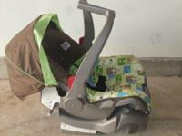 Infant carrier is intended to be used rear-facing for