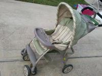 Evenflo stroller about 2 yrs old. Baby carriers snap