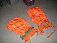 2 everest back packs. Magnesiun frames with orange