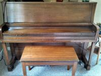 Lovely older piano in great problem. Everett workshop