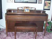 upright piano good condition, early 50's. Ivory keyes!