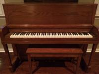 Used, 20-year old upright piano, great condition, needs