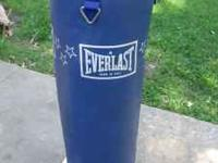 Everlast vinly heavy bag, in great condition, weighs 80