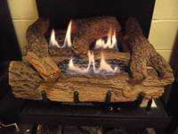 Everwarm Palmetto Oak Vent-Free Gas logs 18 inch