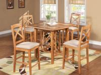 "W19""xD19.5"" x 26"" seat height and dinette room table"