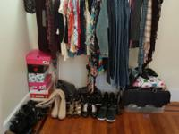 Everything most go. Clothes, shoes, purses, dresses,