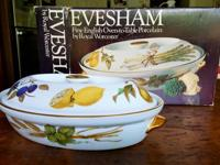 "Evesham 9"" oval shallow casserole dish with lid."