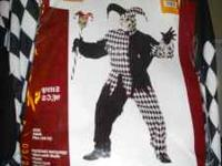 NEW Evil Jester Halloween Costume Package includes: