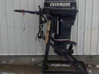 For sale is a used 1992 Evinrude 40 HP Tiller motor. It