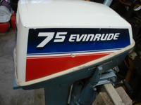Evinrude Outboard motor in great condition. It was my