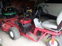 "2002 MODEL EX-MARK COMMERCIAL MOWER WITH 52"" ADJUSTABLE"