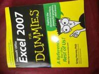 Excel 2007 for dummies $9 or make offer -never used,