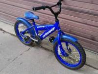 "Way cute blue 16"" bike. Excellent condition, great"