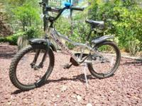 Youth-sized mountain-bike style; Rugged 20 wheels Great